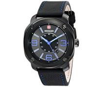 Wenger Herren-Armbanduhr XL Escort Analog Quarz Leder 01.1051.105