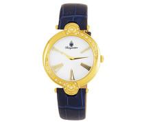 Armbanduhr für Damen mit Analog Anzeige, Quarz-Uhr und Lederarmband - Wasserdichte Damenuhr mit zeitlosem, schickem Design - klassische, elegante Uhr für Frauen - BM811-283 Garland