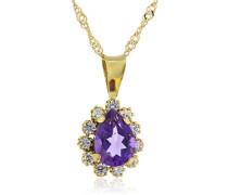 Fascination by Ellen K. Damen Halskette 8 Karat (333) Gelbgold Amethyst 45.0 cm violett 500341160-45-2