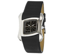 Damen-Armbanduhr Papillon Analog Quarz Leder Swiss Made