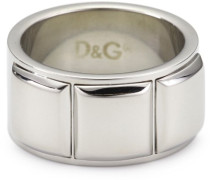 JEWELS I D&G RING #23 ETCHED LOGO/FACET ELEMENTS DJ0837 male