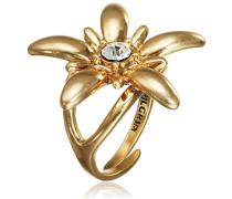 Jewelry Damen-Ring Messing  Damen-Ring aus der Serie Pure vergoldet,weiß  2.7 cm 171332004