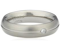 Boccia Damen-Ring Titan Diamant (0.03 ct) Brillantschliff weiß Gr. 58 (18.5) - 0130-0558