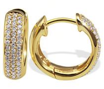 Damen-Creolen Gelb Gold 585 86 Diamanten 0,34 Karat Pavee Ohrringe Brillianten Schmuck