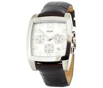 Herren-Armbanduhr Chronograph Quarz Leder M11621-577