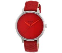 Nixon Damen-Armbanduhr Kensington Red Mod Analog Quarz Leder A1081744-00