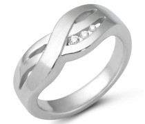 Damen Ring 925 Sterling Silber Zirkonia