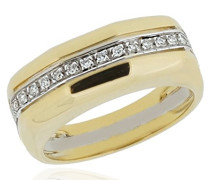 Damen-Ring 750 Gold 14 Diamanten 0.15 Carat