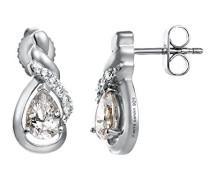Damen-Ohrstecker 925 Sterling Silber rhodiniert Glas Zirkonia Arabesque Étincelle weiß S.PCER90241A000
