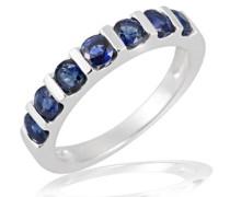 Damen-Ring Memoire 375 Weißgold 7 Saphire