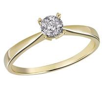 Damen-Ring Glamour 585 Gelbgold 10 Diamanten 0,10 ct.