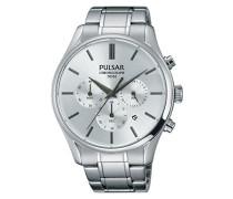 Pulsar Herren-Armbanduhr Chronograph Quarz Edelstahl PT3775X1
