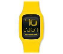 Swatch Unisex-Armbanduhr Touch Yellow Digital Quarz Plastik SURJ101
