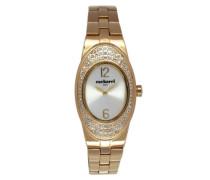 Damen-Armbanduhr Analog Quarz Edelstahl beschichtet CLD 008S/1BM