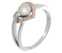 Damen-Motivring mit Rund Perle Ringgröße 54 (17.2) - ZR-7233/54