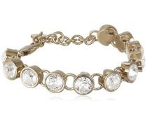 Damen-Armband Edelstahl, golden, Kristall transparent 16.7 cm - 336953