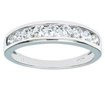 Damen-Ring 375 Weißgold Zirkonia 9 Karat