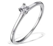 Damen-Ring Solitär Jana Solitär Ring Jana 0.10 ct. 585 Weißgold Diamant (0.10 ct) weiß Brillantschliff