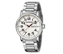 WENGER Unisex-Armbanduhr Analog Quarz Edelstahl 01.0341.102