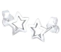 Elli Damen-Ohrstecker Sterne 925 Sterling Silber 03201504