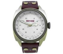 Herren-Armbanduhr Analog Quarz Leder 92-0001-502