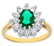 Damen-Ring 375 Bicolor 9 K Zirkonia DIV046G-U