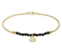 Damen-Armband Peace-Zeichen 925 Silber Onyx schwarz 18 cm - 0206923014_18