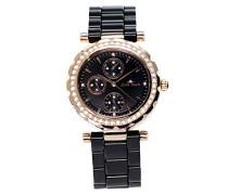 Damen-Armbanduhr Analog Quarz Premium Keramik Diamanten - STM15R6