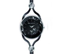 A0525RNIN  Damen-Armbanduhr Anastasie Quarz analog Leder Schwarz