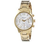 Regent Damen-Armbanduhr XS Analog Quarz Edelstahl beschichtet 12210937
