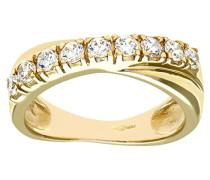 Damen-Ring 375 Gelbgold Zirkonia 9 Karat