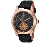 Armbanduhr für Herren mit Analog Anzeige, Automatik-Uhr und Lederarmband - Wasserdichte Herrenuhr mit zeitlosem, schickem Design - klassische Uhr für Männer - BM224-322 Norwich
