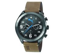 Puma Herren-Armbanduhr Fame Chronograph Quarz Leder PU103871003