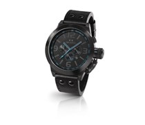 TW Steel Herren-Armbanduhr XL Canteen Style Chronograph Leder TW-904