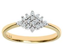 Damen-Ring 9 K Gelbgold P2 Diamant