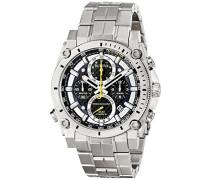 Precisionist 96G175 - Herren Designer-Armbanduhr - Chronograph mit Armband aus Edelstahl - Blau/Gelb