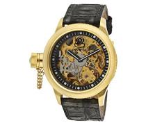 Herren-Armbanduhr Datum Klassisch Mechanik Leder-10364