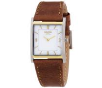 Damen-Armbanduhr Analog Quarz Leder 3210-02