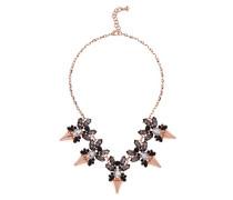 Arnah: Jeweled Pfeil Gold Rose Halskette Black Diamond