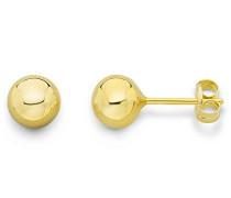 Damen-Ohrstecker Kugel 375 Gelbgold 5 mm