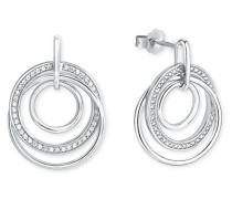 Damen Ohrhänger 925 Sterling Silber Zirkonia weiß