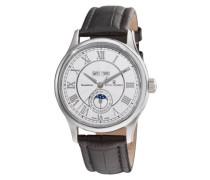 Herren-Armbanduhr MOONPHASE Analog Automatik Leder 16066.2532