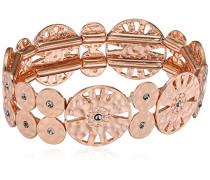 Damen-Armband mattiert Kristall weiß Rundschliff 17 cm - 211724112