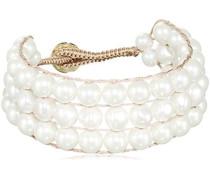 Damen-Armband 15/02 Adalia Sg White Messing teilvergoldet 19 cm - 337904