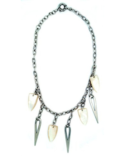 Damen-Halsband 925 Sterling Silber Perlmutt MC-1637