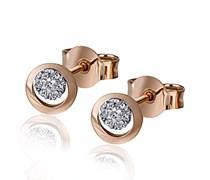 Goldmaid Damen-Ohrstecker 585 Rotgold 14 Diamanten 0,06 ct.