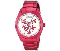 ST PAULS Damen Quarzuhr mit-Zifferblatt Analog-Anzeige und rotem Armband VV072SLPK