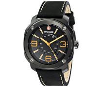 Wenger Herren-Armbanduhr XL Escort Analog Quarz Leder 01.1051.106