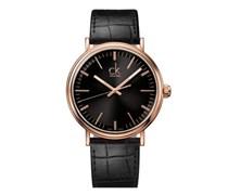 Calvin Klein Herren-Armbanduhr XL ck surround Analog Quarz Leder K3W216C1