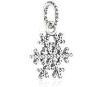390354CZ Schneekristal Silberanhänger mit Pave Zirkonia / Schneeflocke